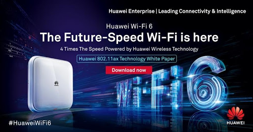 Huawei explores WiFi 6: IEEE 802.11ax technology.