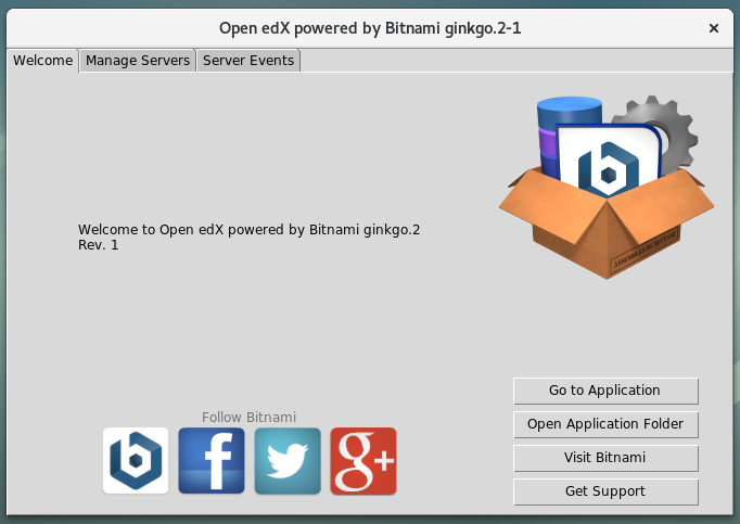 Figura 22 - Panel de control de Bitnami para edX versión Ginkgo 2