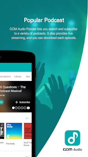 GOM Audio - Music, Sync lyrics, Podcast, Streaming Screenshot
