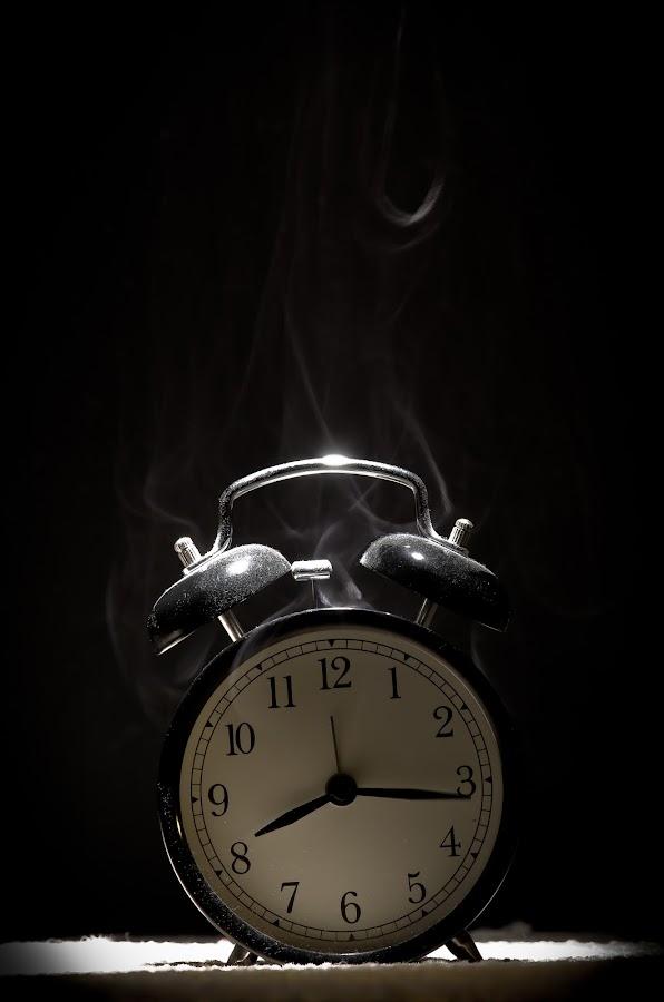Smoking..... by Vaidotas Maneikis - Abstract Light Painting ( light painting, clock, smoke,  )