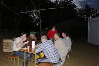 Photo: V petek zvečer zaslužena večerja pod beam-om.