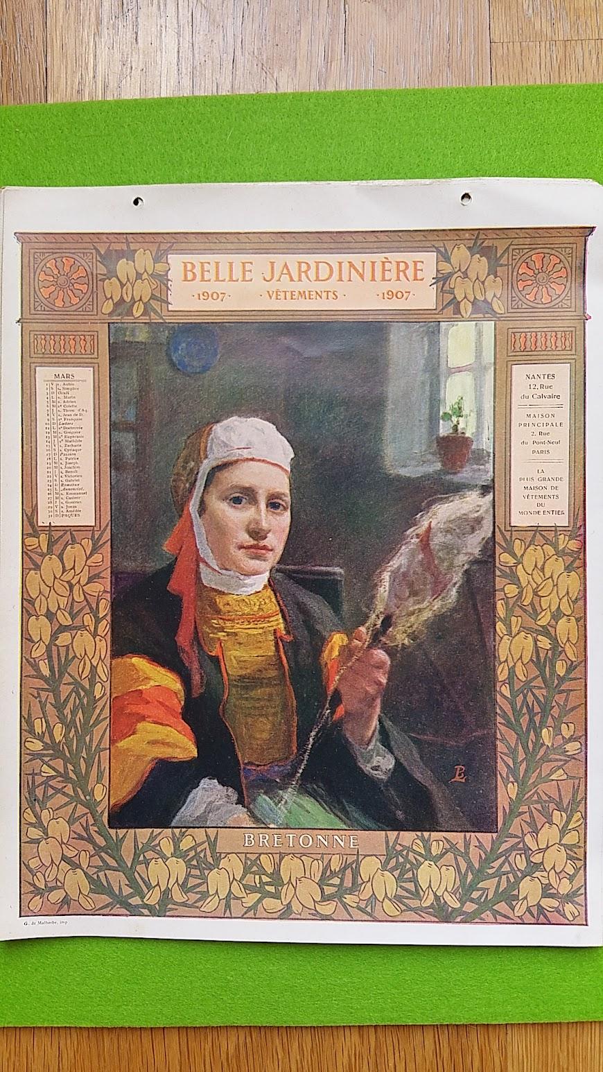 Kalender - Maison de la Belle Jardiniere - Paris - 1907