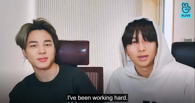 Bts's RM and Jimin V-Live