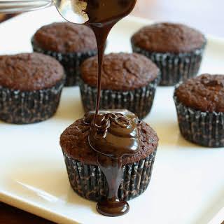 Mega Healthy Triple Chocolate Cupcakes.