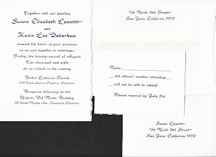 Photo: Same invitations as previous, but scanned rather than photographed.