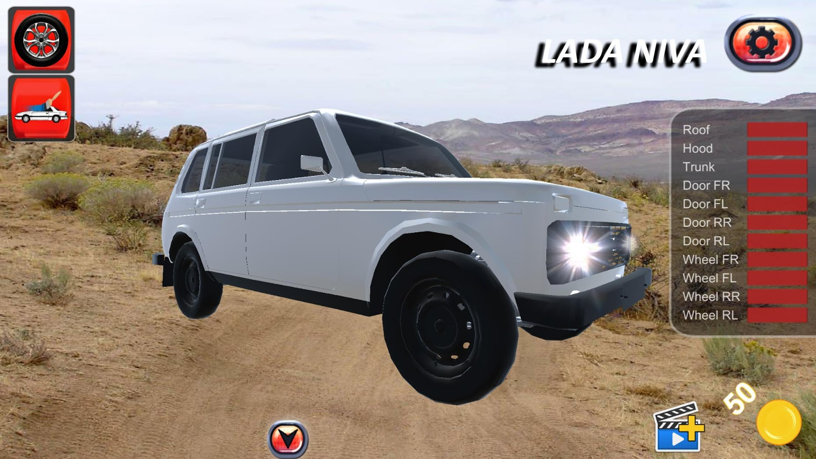 offroad 4x4 russian lada niva crash test 3d android apps. Black Bedroom Furniture Sets. Home Design Ideas