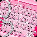 Pink Sparkling Diamond Princess Keyboard Theme icon