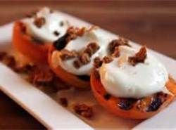Try the apricots. Good with chopped nuts and maple syrup drizzle.
