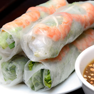 Vietnamese Fresh Spring Rolls with Hoisin Peanut Sauce Recipe