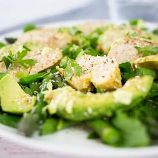 Chicken, Avocado & Asparagus Salad with Lemon Cashew Dressing (Paleo).