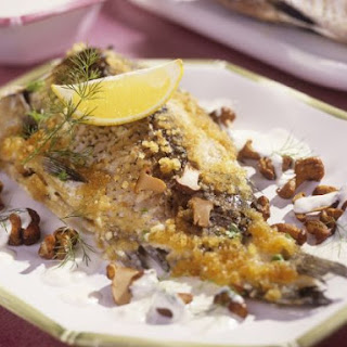 Crusted Fish with Sour Cream
