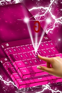 Pink Stars Keyboard - náhled