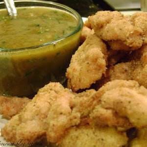 Ritz Chicken Strips With A Spiced Mango Dipping Sauce