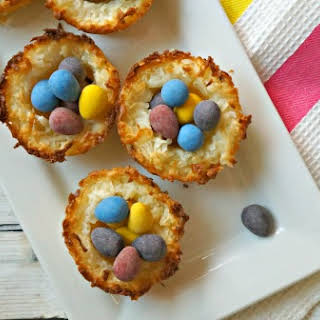 Easy Coconut Macaroon Birds Nest Cookies.