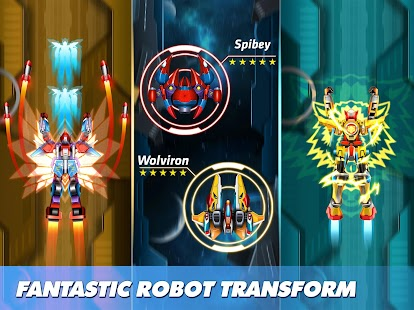 Thunder Fighter Squadron: TRANSFORMERS Shooter Screenshot