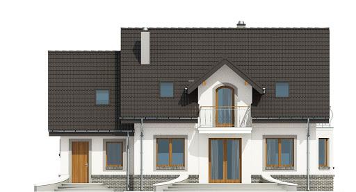 Dom Dla Ciebie 3 z garażem 1-st. A - Elewacja tylna