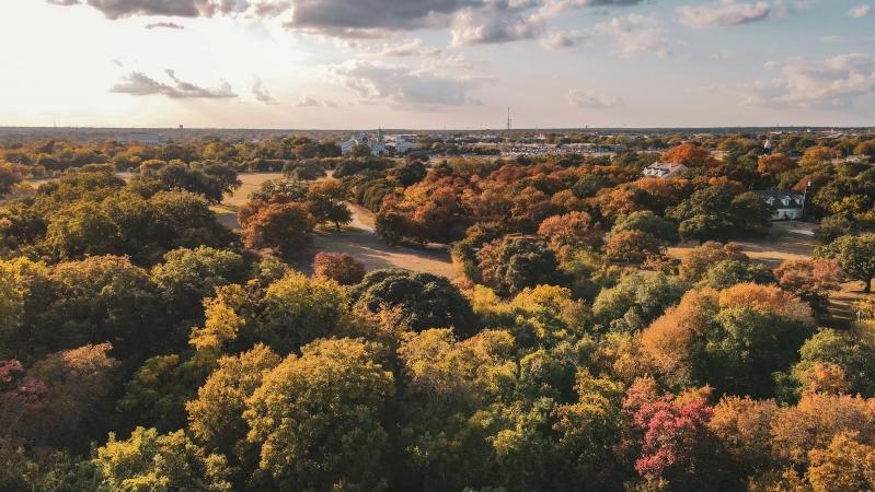 Round Rock, TX aerial view