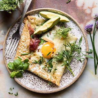 Asparagus and Brie Puff Pastry with Thyme Honey.