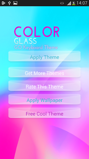 GO Keyboard Color Glass Theme
