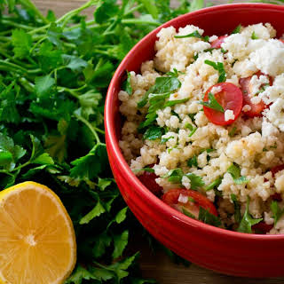 Millet Salad with Tomatoes and Feta.