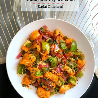 Indian Stir Fry Chicken (Kadai Chicken)