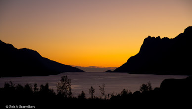 Photo: Ersfjorden, a fjord outside Tromsø