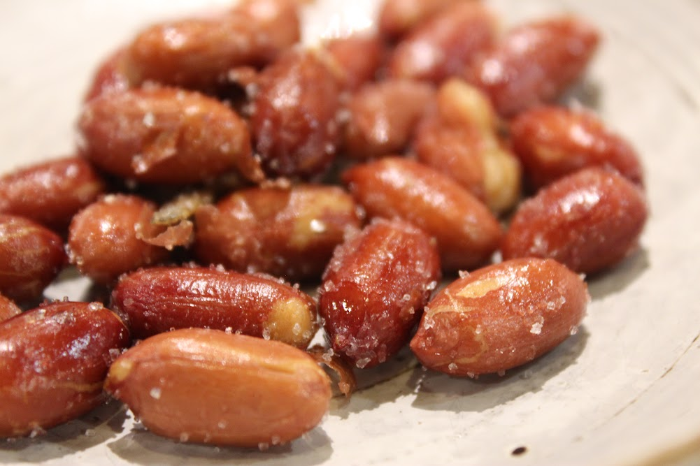 Close up of salted peanuts with anchovies as a side dish at Seoul House in Thornhill. (서울관 스틸스 토론토 반찬)
