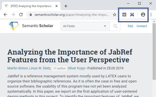 JabRef Browser Extension