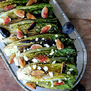 Grilled Romaine Hearts and Figs.