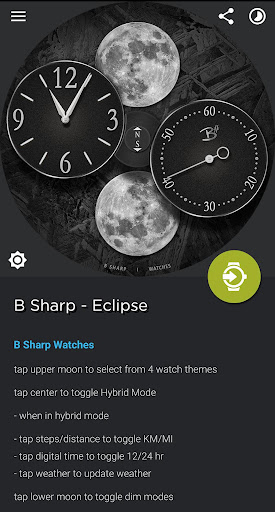 Screenshot for Eclipse - Premium watch face for smart watches in United States Play Store