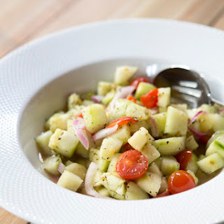 Fresh Cucumber & Tomato Salad.