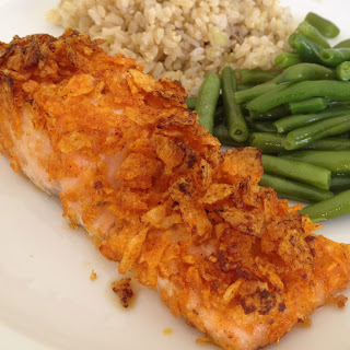 BBQ Kettle Chip-Encrusted Salmon