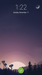 Night Animated Lock Screen Pro - náhled