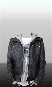 Men Leather Jacket Photo Suit screenshot 6