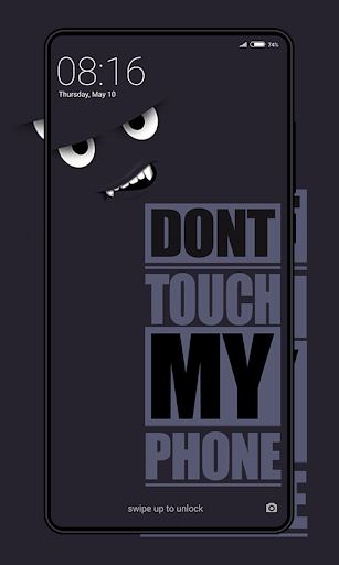 Don't Touch My Phone Wallpaper