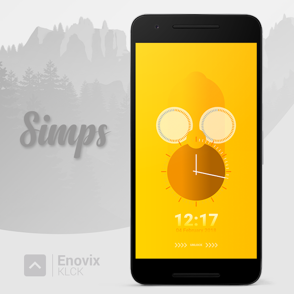 Enovix for KLCK – Lock Screen Themes v1.1 [Paid]