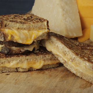 Mario Batali's Fancy Grilled 3 Cheese Sandwiches.