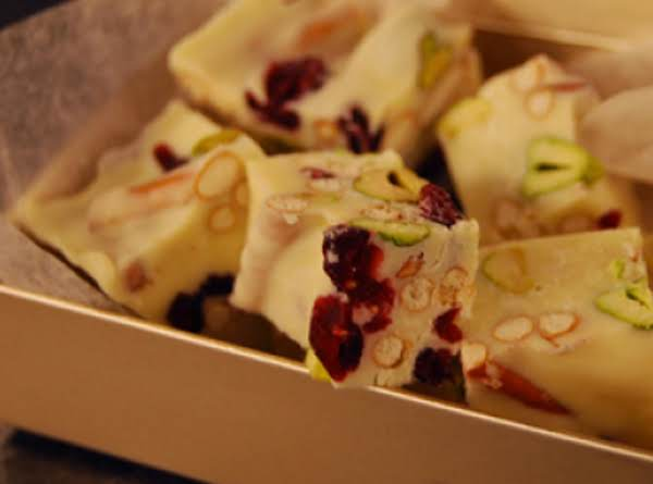 White Chocolate Cranberry Pistachio Bark Recipe