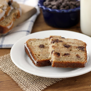 Dark Chocolate Chip Graham Banana Bread