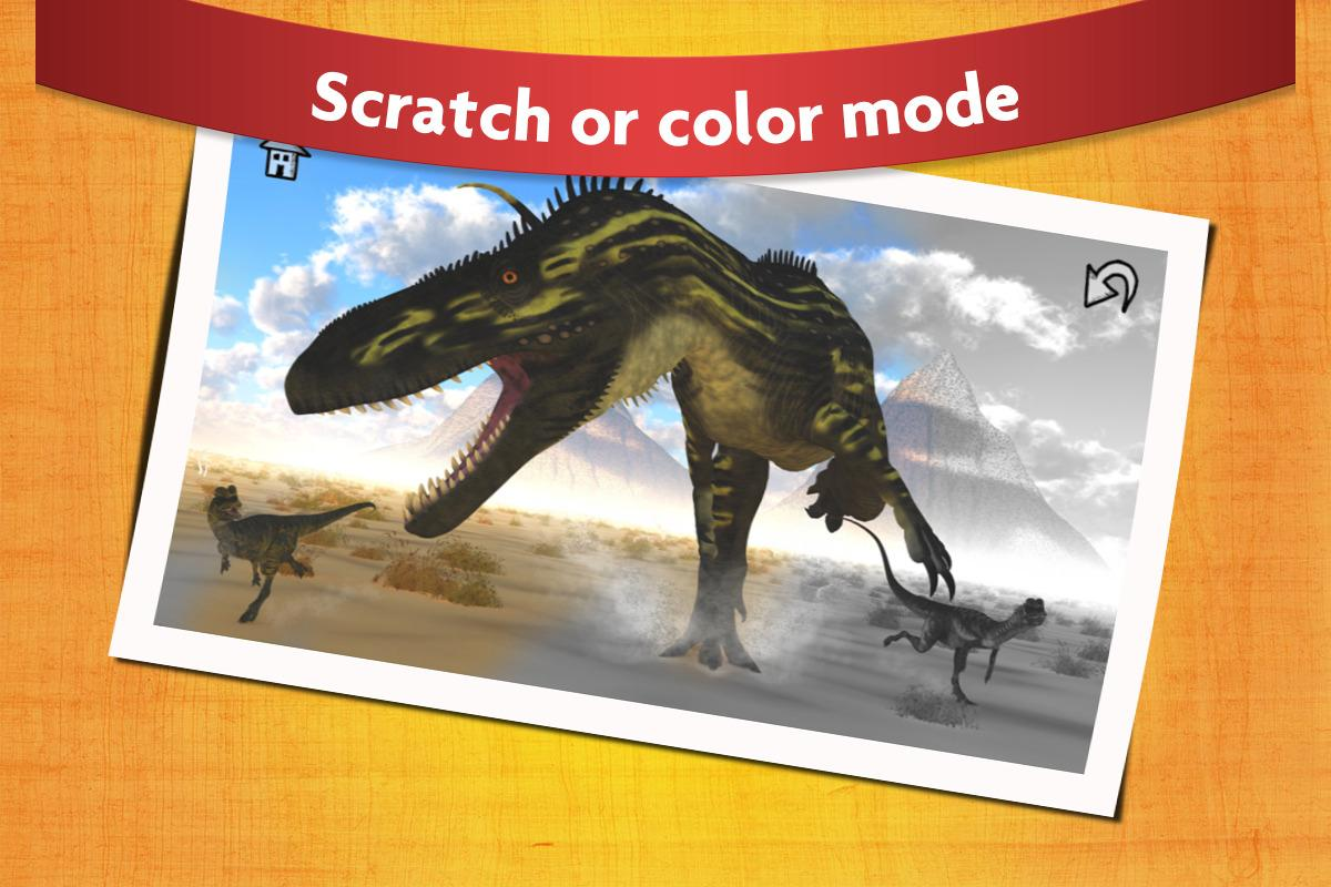 Dinosaur Scratch and Paint - Free Game for Kids- screenshot