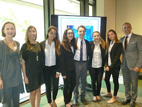 Photo: Florida Euro Challenge Competition 2016 Recognition & Awards Ceremomy Federal Reserve Bank of Atlanta - Miami Branch - April 1st, 2016 International Studies Preparatory Academy students with Consul General of Italy Gloria M. Bellelli, Teacher Elisa Oliverio, and Principal Alejandro Perez