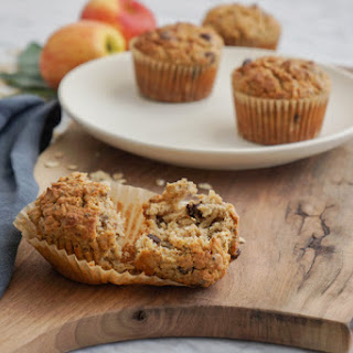 Oat, Apple And Almond Butter Muffins.