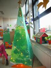 Photo: pyramide kerstboom stap 2 : lichtjes