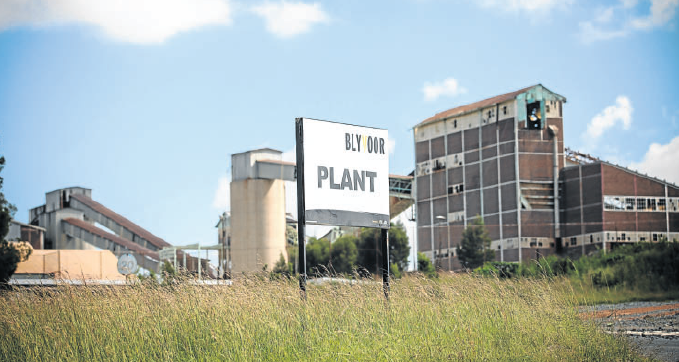 DESERTED: The Blyvoor mine processing plant near Carletonville. Picture: KEVIN SUTHERLAND