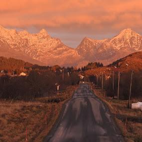 Himmeltinden by Karl-roger Johnsen - Landscapes Mountains & Hills