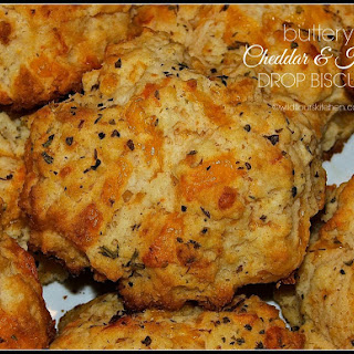 Buttery Cheddar & Herb Drop Biscuits