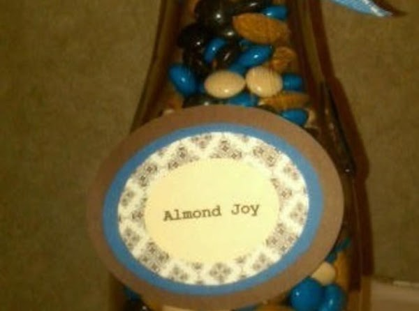 For Almond Joy variety combine Almond Joy pieces and almonds in medium bowl and...