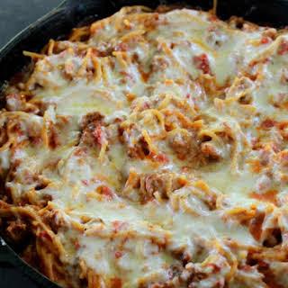 Skillet Baked Spaghetti.