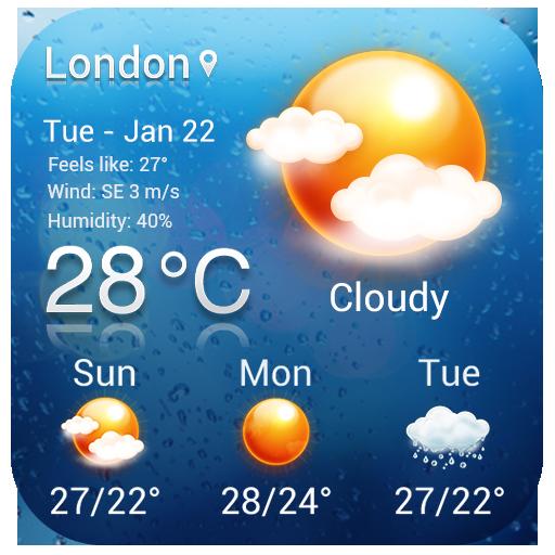 Analog Clock & Weather Widget
