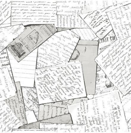 Christiana Masi Hashtag 11017 Tapet med handskrivna brev, Svartvit